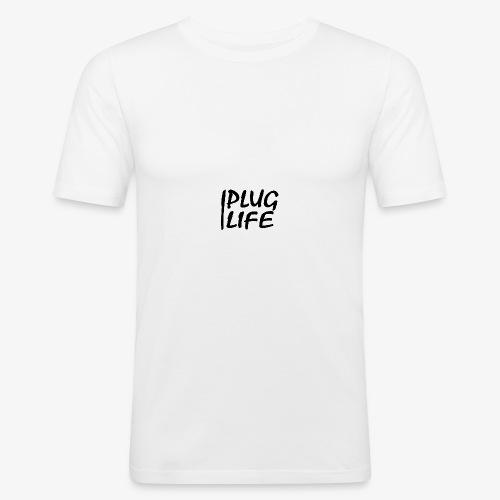 PLUG LIFE logo - Men's Slim Fit T-Shirt