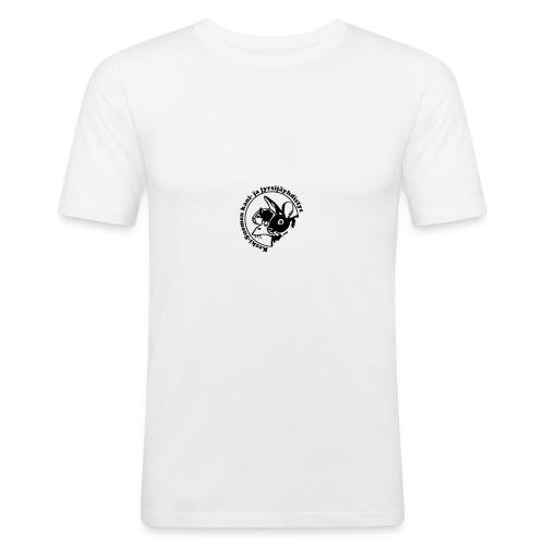 KSKJY logo - musta - Miesten tyköistuva t-paita