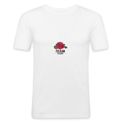 Felkan Brand: Rose Print Black - Slim Fit T-shirt herr