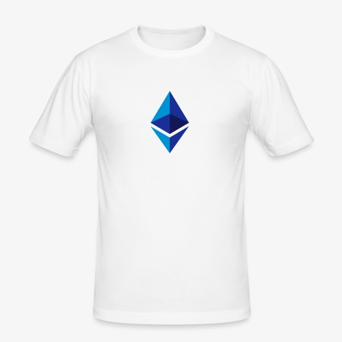 Ethereum Logo (Blau) - Männer Slim Fit T-Shirt