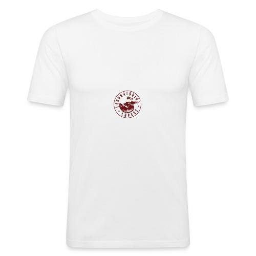 logo rosso - Maglietta aderente da uomo