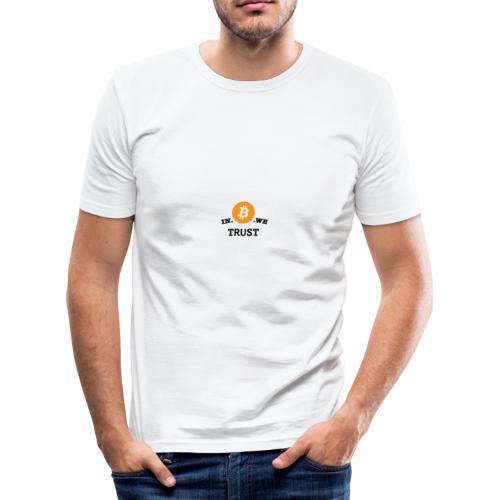in b we trust cirkel - slim fit T-shirt