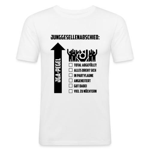 JGA-Pegel - Männer Slim Fit T-Shirt