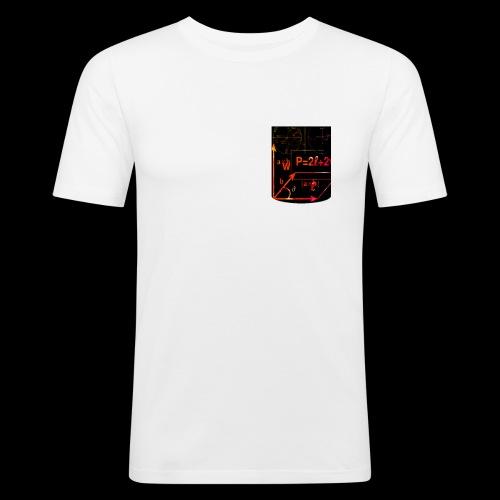 Mathe Physik Wissenschaft Lehrer Pocket Design - Männer Slim Fit T-Shirt
