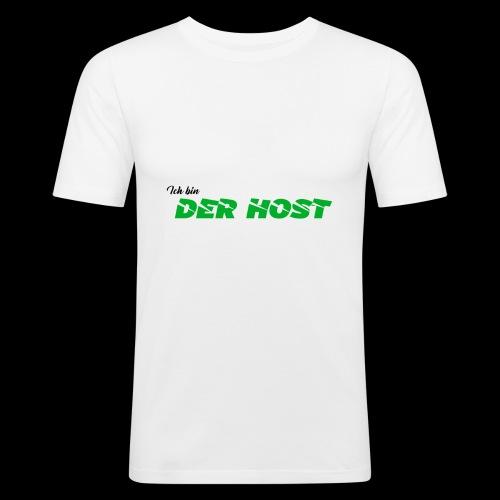 DER HOST (WEISS/GRAU) - Männer Slim Fit T-Shirt