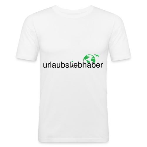 urlaubsliebhaber grün-schwarz- dünne Schrift - Männer Slim Fit T-Shirt