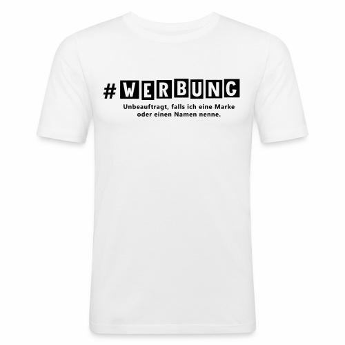 Hashtag Werbung - Männer Slim Fit T-Shirt