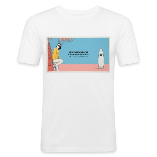 Noise Explorer Beach Test - T-shirt près du corps Homme
