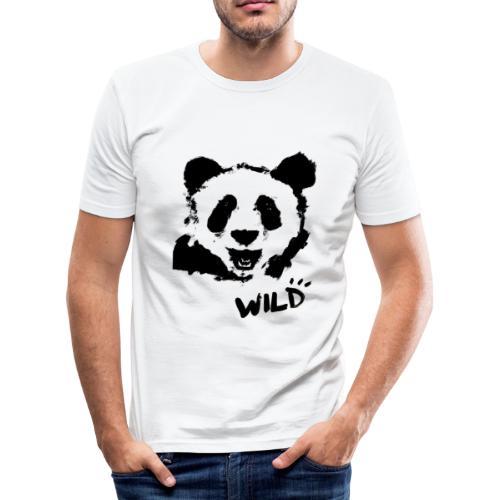 WILD PANDA - Männer Slim Fit T-Shirt