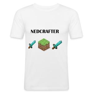 NedCrafter Logo - Männer Slim Fit T-Shirt