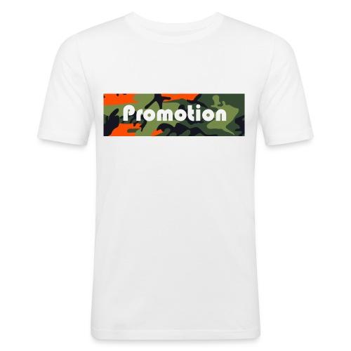 Promotion Box Logo - Männer Slim Fit T-Shirt