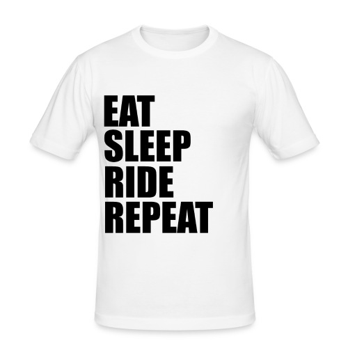 Eat sleep ride repeat - Maglietta aderente da uomo