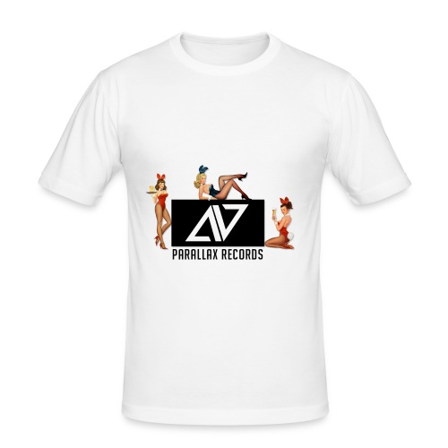 Parallax Records logo classic - Men's Slim Fit T-Shirt
