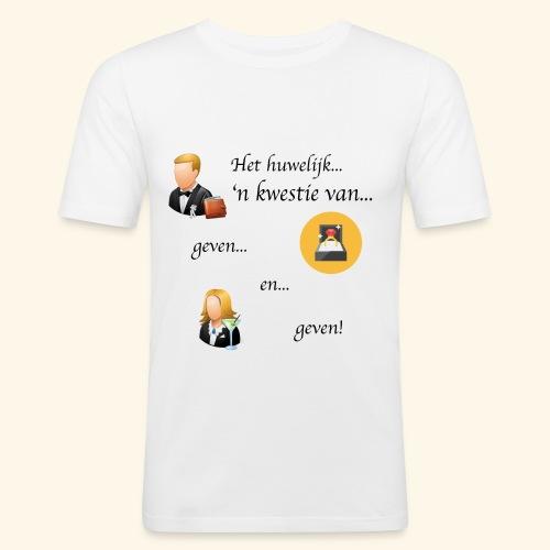 Het huwelijk... - slim fit T-shirt