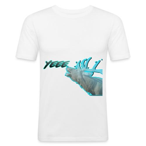 YEE! HIRSCH DESIGN - Männer Slim Fit T-Shirt