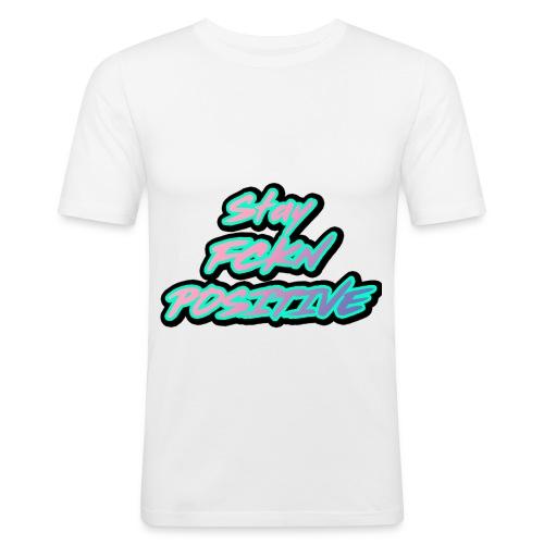 Stay FCKN Positive - Pink-Türkis Sommer Shirt - Männer Slim Fit T-Shirt