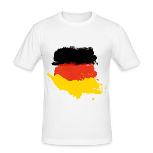 German flag shirt01 - Männer Slim Fit T-Shirt