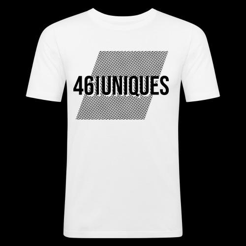 46 uniques points - Männer Slim Fit T-Shirt