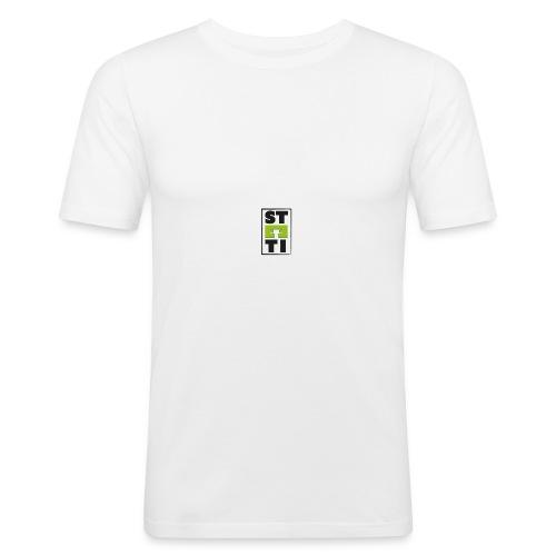 Steeti logo på vänster arm - Slim Fit T-shirt herr