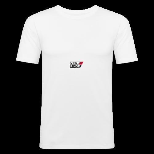 Vier-Ringe Logo - Männer Slim Fit T-Shirt