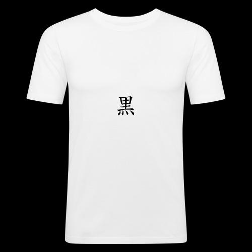 Black - T-shirt près du corps Homme