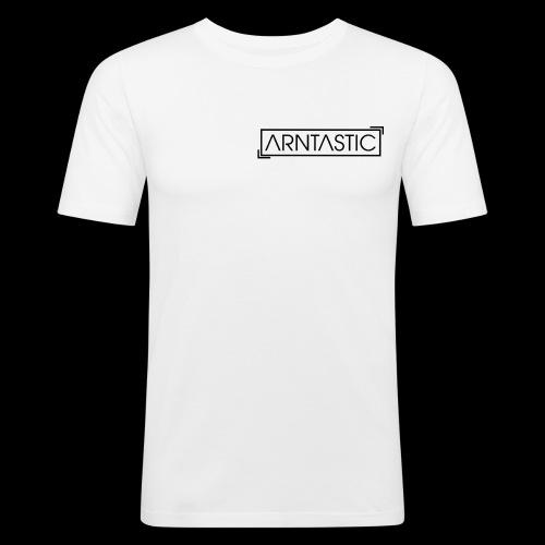 ARNTASTIC LOGO schwarz - Männer Slim Fit T-Shirt