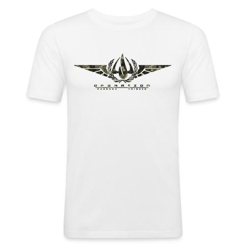 OPT Logo camo sechsecke - Männer Slim Fit T-Shirt