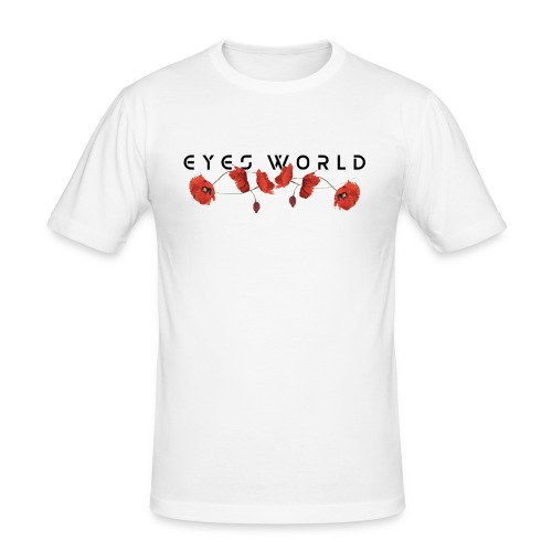Eyes world flower - T-shirt près du corps Homme