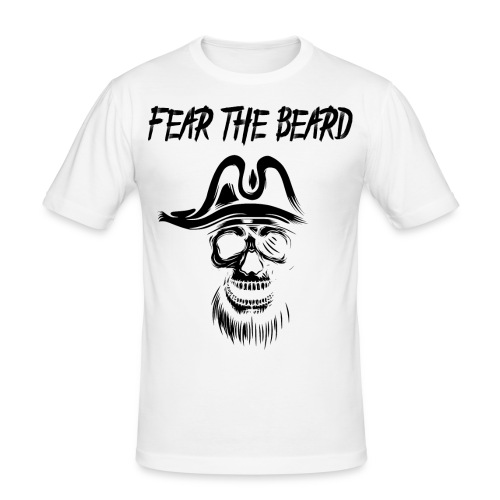 Fear the Beard - Männer Slim Fit T-Shirt