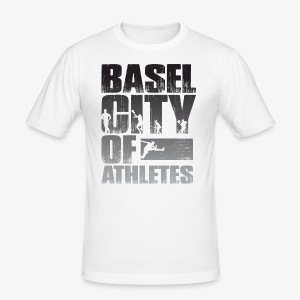 Basel City of Athletes B/W - Männer Slim Fit T-Shirt