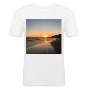coucher de soleil - Tee shirt près du corps Homme