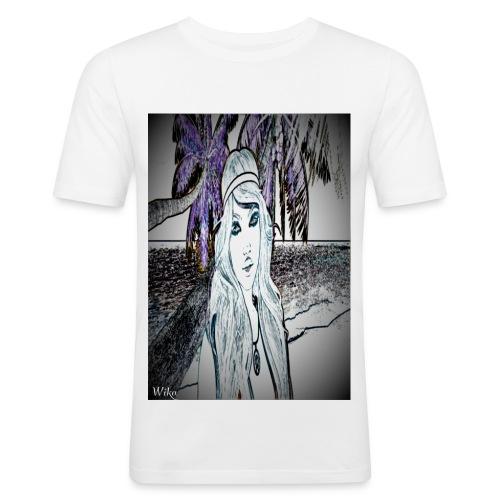 Mein foto aus Second life Pster 1 - Männer Slim Fit T-Shirt