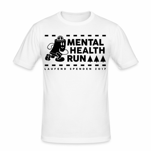 mental healt run - Männer Slim Fit T-Shirt