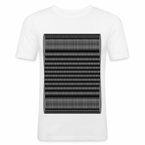 Moire III [Noir] - T-shirt près du corps Homme