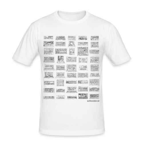 Synth Evolution T-shirt - White - Men's Slim Fit T-Shirt