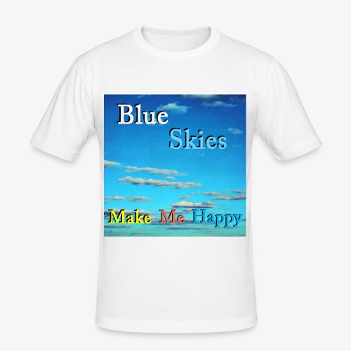 Blue Skies Make Me Happy - Slim Fit T-skjorte for menn