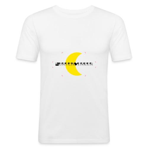 Wunschdenken Halbmond - Männer Slim Fit T-Shirt