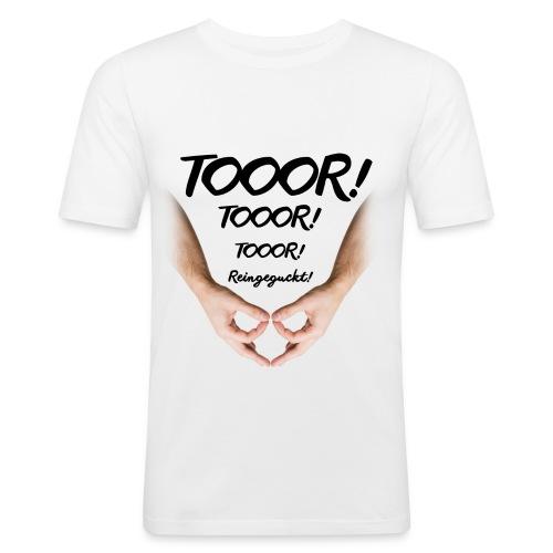 Tor Reingeguckt - Männer Slim Fit T-Shirt