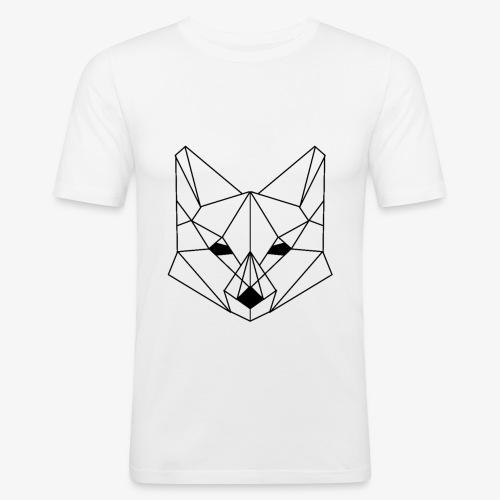 Geometrischer Fuchs - Männer Slim Fit T-Shirt