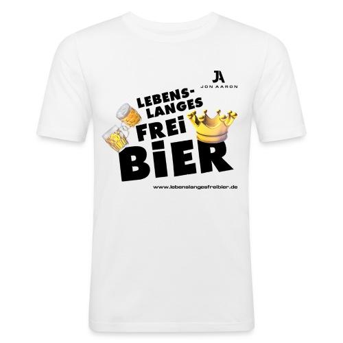 Lebenslanges Freibier - Männer Slim Fit T-Shirt