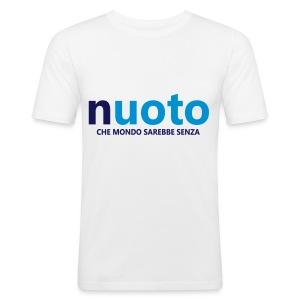 NUOTO - CHE MONDO SAREBBE - Maglietta aderente da uomo