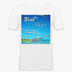 Blue Skies Make Me Happy - Slim Fit T-skjorte for menn