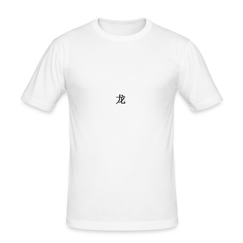 Chinese Dragon Symbol Print - Männer Slim Fit T-Shirt