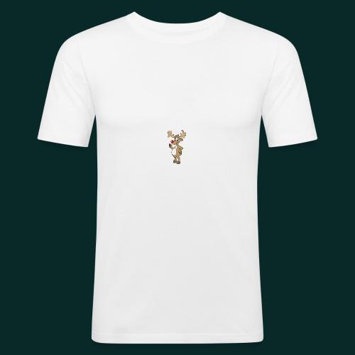 Baby-Lätzchen-Rentier-weihnachten - Männer Slim Fit T-Shirt