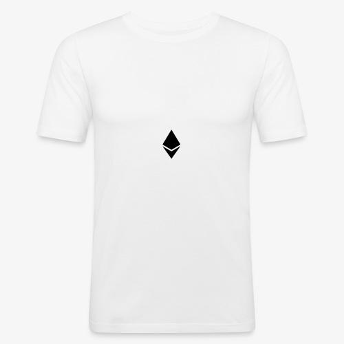 Ethereum Logo (Schwarz) - Männer Slim Fit T-Shirt