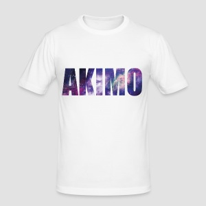 AKIMO Basic Galaxy - Männer Slim Fit T-Shirt