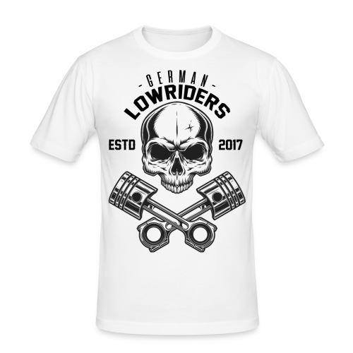 LOWRIDERS SKULL - Männer Slim Fit T-Shirt