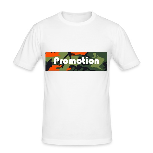 Promotion Box Logo - Männer Slim Fit T-Shirt