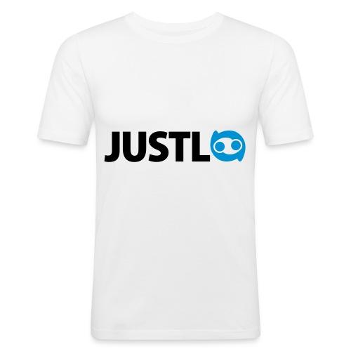 Justlo Logo - Männer Slim Fit T-Shirt