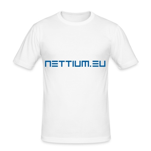 Nettium.eu logo blue - Men's Slim Fit T-Shirt